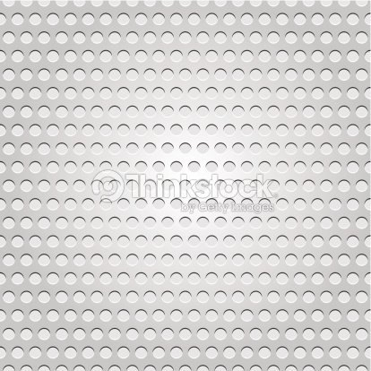 Seamless Metal Surface Light Gray Background Perforated