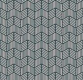seamless monochrome pattern of striped rhombuses.