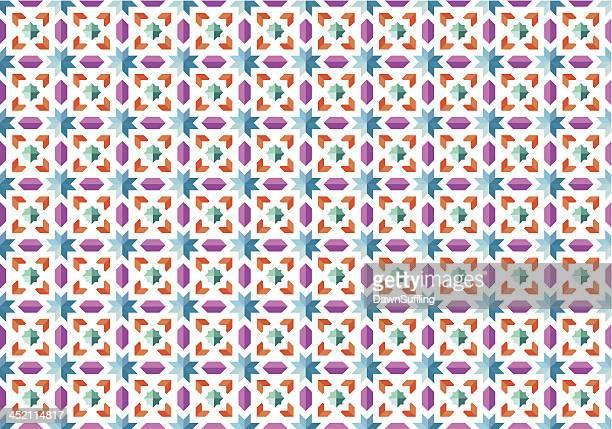 Nahtlose Muster mit Mosaik