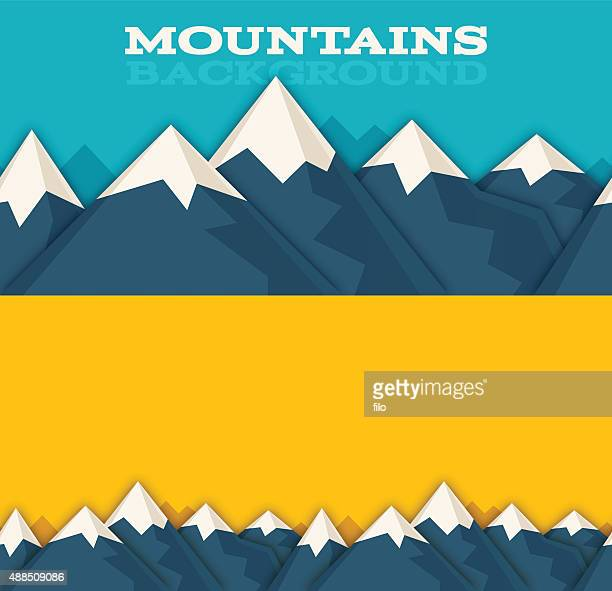Las montañas de fondo sin costuras