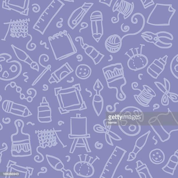 seamless pattern: arts & crafts