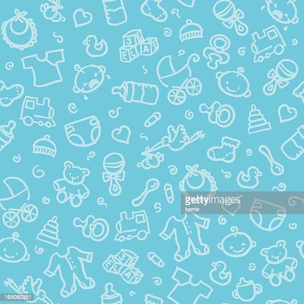 seamless pattern: baby boy