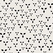 Seamless pattern background. Modern abstract and Classical antique concept. Geometric creative design stylish theme. Illustration vector. Black and white color. Rectangle Diamond square shape