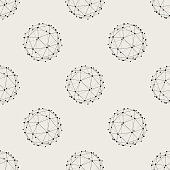 Seamless pattern background. Modern abstract and Classical antique concept. Geometric creative design stylish theme. Illustration vector. Black and white color. Technology connection line circle shape