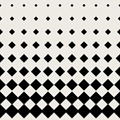 Seamless pattern background. Modern abstract and Classical antique concept. Geometric creative design stylish theme. Illustration vector. Black and white color. Rectangle square half tone shape