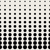 Seamless pattern background. Modern abstract and Classical antique concept. Geometric creative design stylish theme. Illustration vector. Black and white color. Circular dot half tone shape