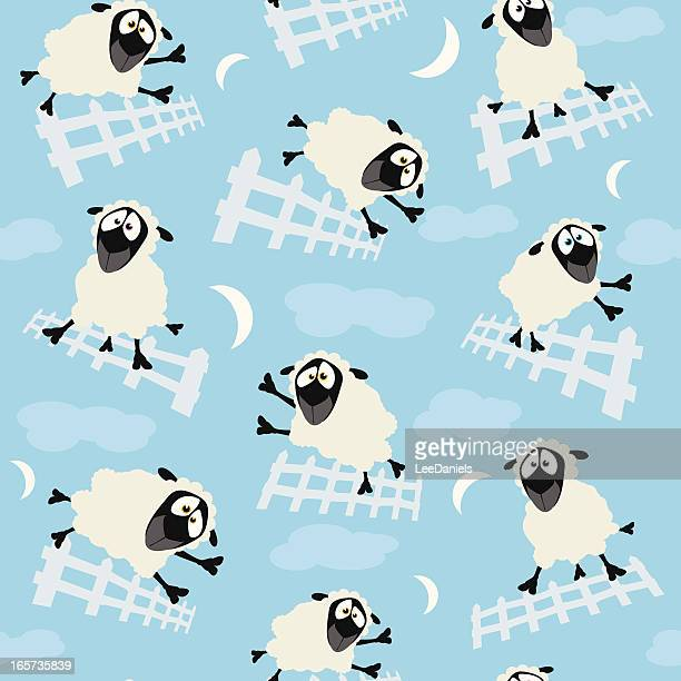 Seamless Pattern - Counting Sheep