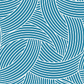seamless pattern. geometric design with crossed arc