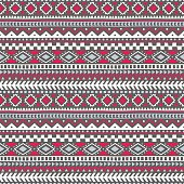 seamless pattern bohemian style, tribal and ethnic motives, geometrical ornament, print for your textiles, gray, white and pink colors, vector illustration