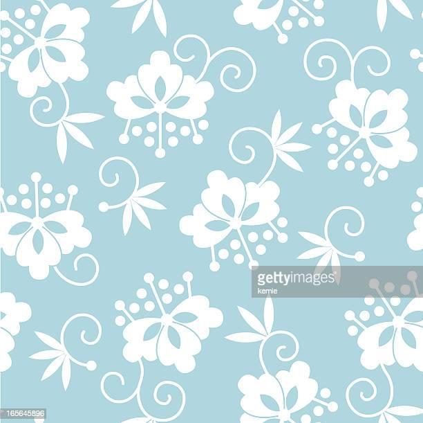 seamless pattern: japanese flowers