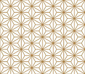 Seamless Kumiko pattern in color lines of medium thickness