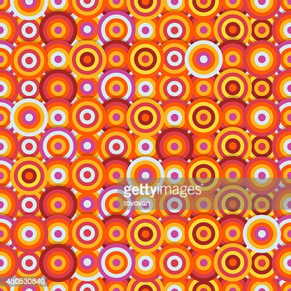 Seamless pattern of different circles : Vector Art