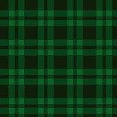 Seamless pattern of green tartan. Vector illustration.