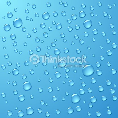 Seamless pattern of water drops on blue background : stock vector