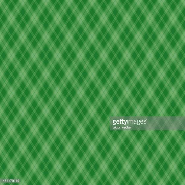 Seamless pattern Scottish green cage