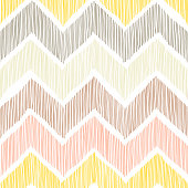 seamless pattern, chevron, a zigzag ornament, white, yellow, pink and gray colors, pritn for textiles in doodle style, vector illustration