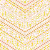 Seamless pattern vector Stylish Modern pastel polka dots pattern mix and geometric modern zig zag line for fashion,scarf ,fabric and all prints on light pink background color