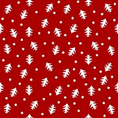 Seamless pattern winter vector background
