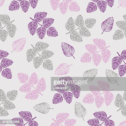 Motivo homogéneo com folhas coloridas. : Arte vetorial