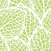Seamless pattern with decorative leaves. Natural detailed illustration.