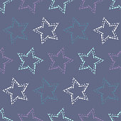 Seamless pattern with decorative stars. Stars from different squares. Can be used for wallpaper, textile, invitation card, wrapping, web page background.