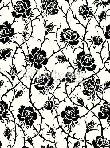 Sem costura padr o com rosas arte vetorial thinkstock - Dessin de rosier ...