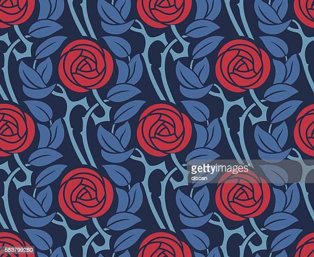 Nahtlose Muster mit Rosen.