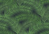 Seamless pattern with trendy tropical summer motifs, exotic leaves and plants. For fabric, wallpapers, web page backgrounds, surface textures, textile.