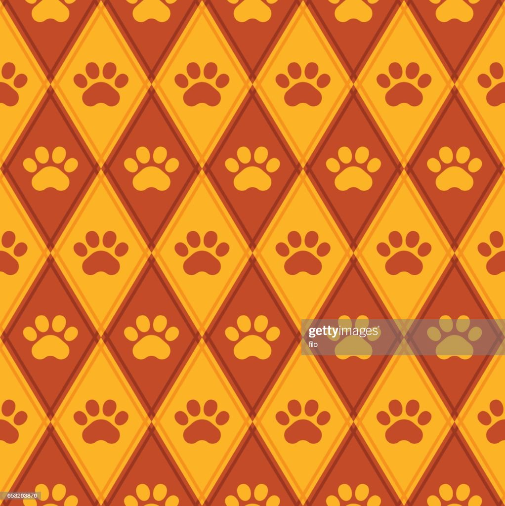 Seamless Paw Print Background : Vector Art