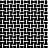 Seamless pixel plaid pattern in black & white. Monochrome tartan check plaid for scarf, poncho, shirt, coat, jacket, or other textile design.