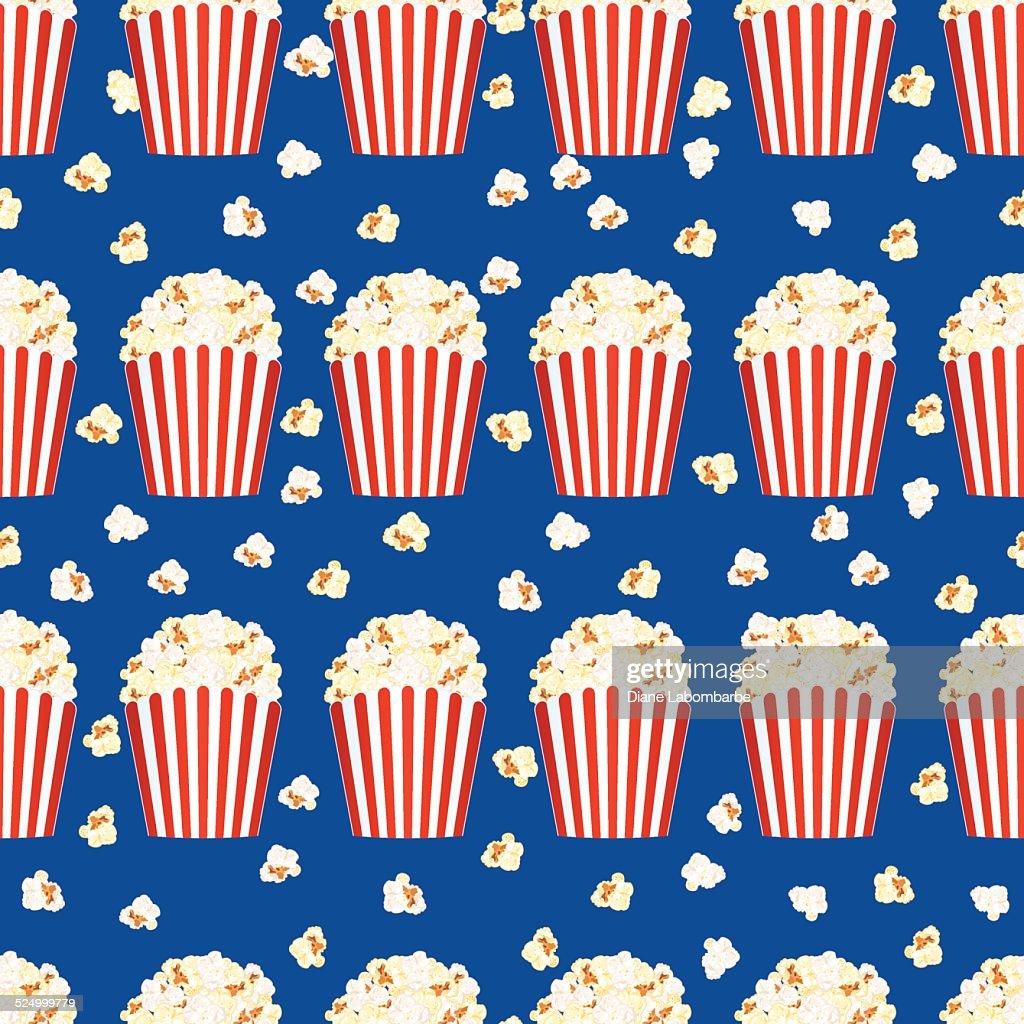 Popcorn Wallpaper: Seamless Popcorn Background Pattern Vector Art