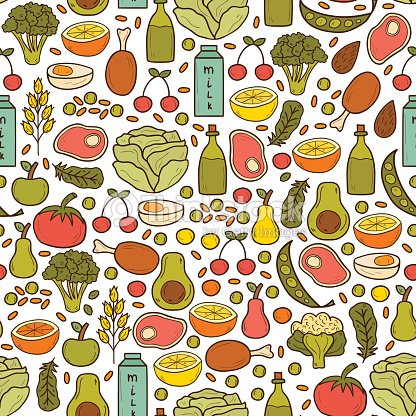 Fondo Sin Costuras De Embarazo Nutrition Arte vectorial | Thinkstock