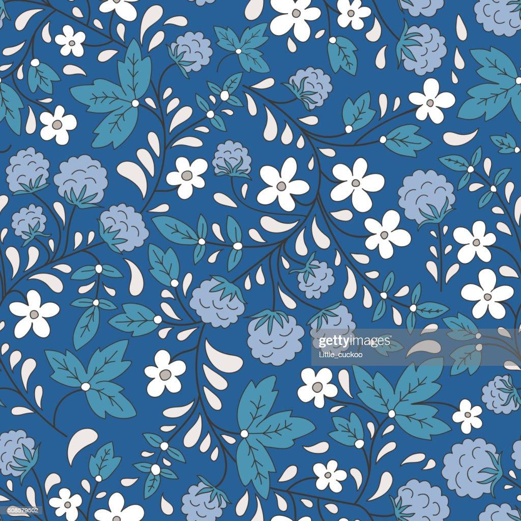 Seamless raspberry pattern. Vector illustration. : Vector Art