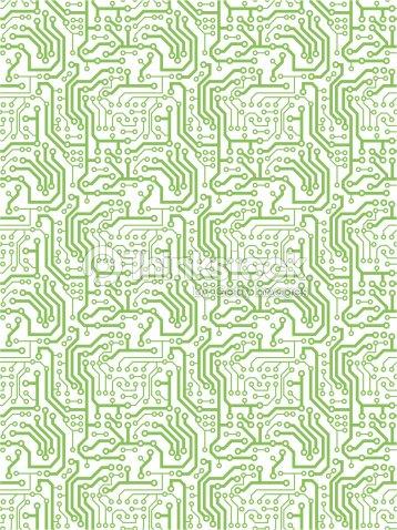 Seamless Repeating Printed Circuit Patternbackground Vector Art ...