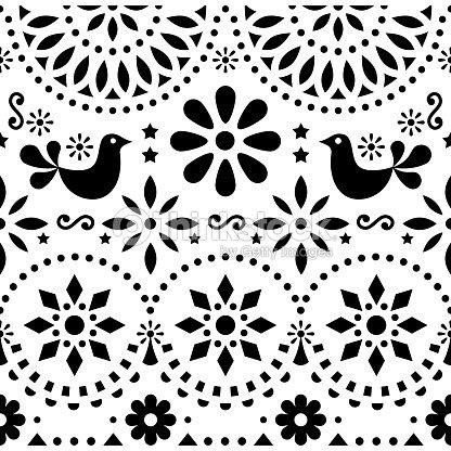 Conception Sans Couture Scandinave Nordique Graphiques Vector Art