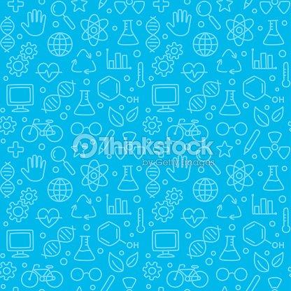 Motif sans couture science : clipart vectoriel