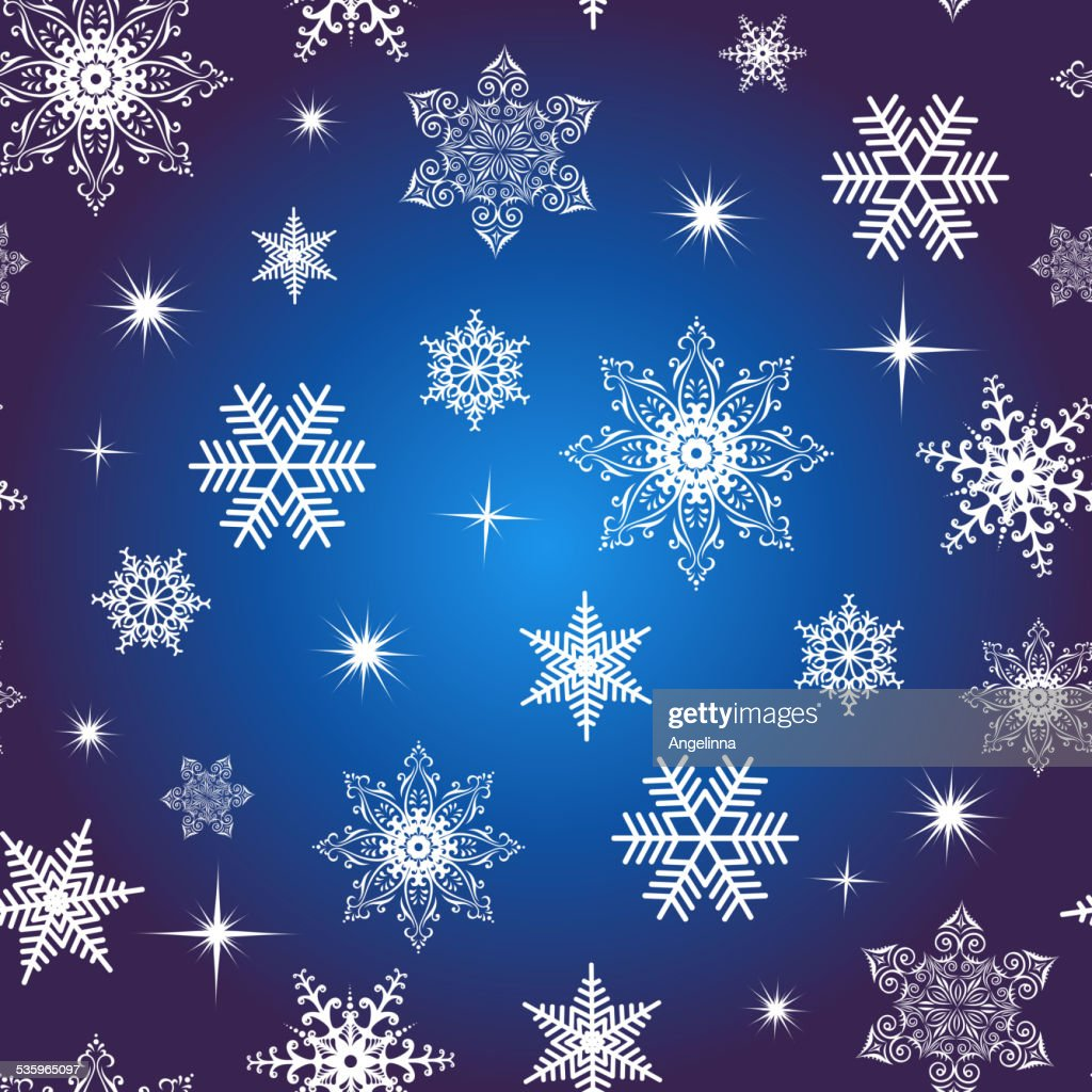 Seamless snowflake background : Vector Art