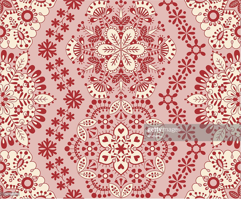 Seamless snowflake embroidery vector art getty images