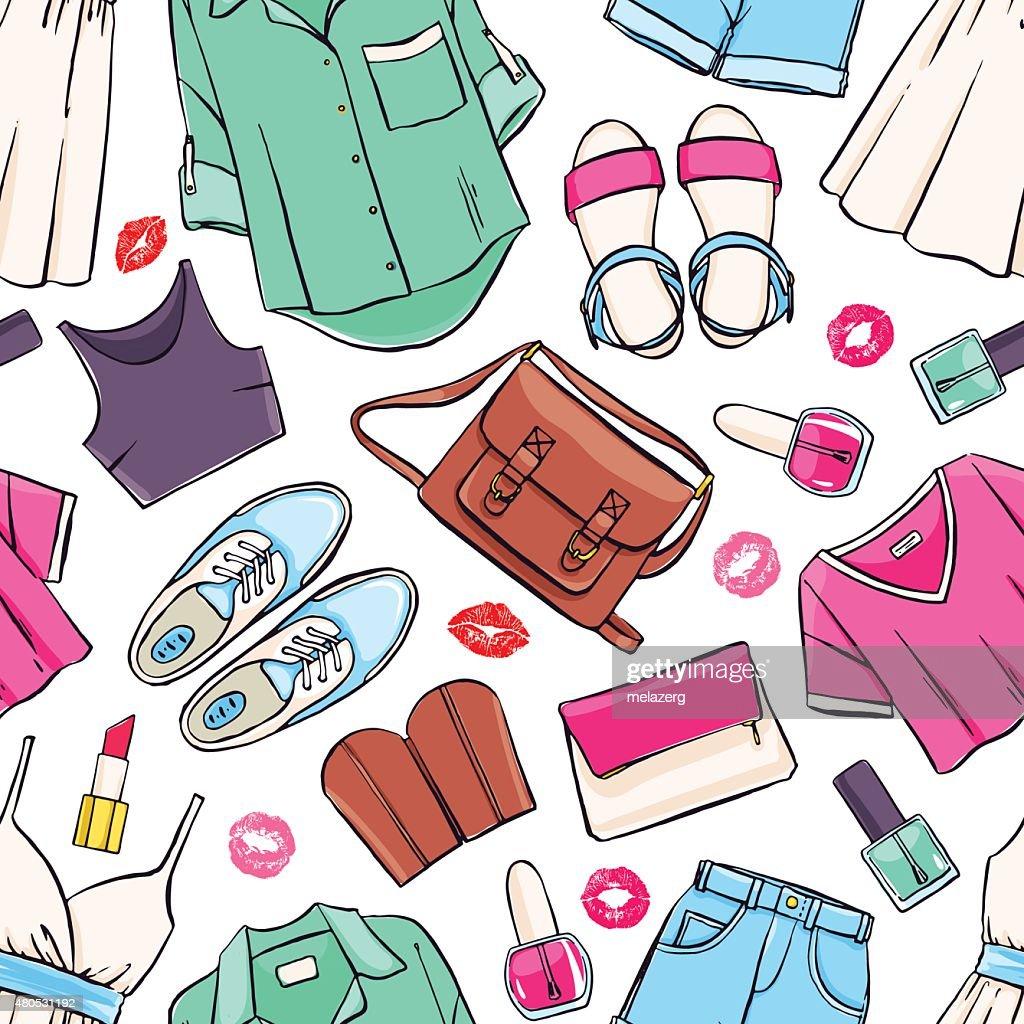 seamless summer clothing : Vectorkunst