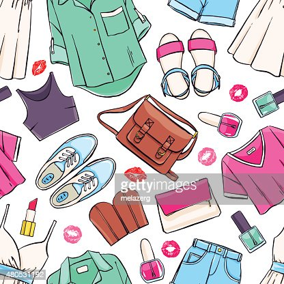 seamless summer clothing : Vector Art