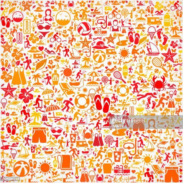 Seamless Summer royalty free vector art Pattern