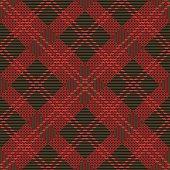 seamless tartan pattern-vector illustration. Scottish plaid fabric with stripes.