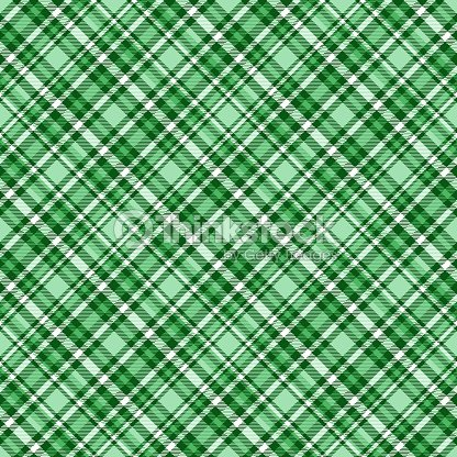 Seamless Tartan Plaid Pattern In Shades Of Emerald Green Pale Turquoise And White Vector