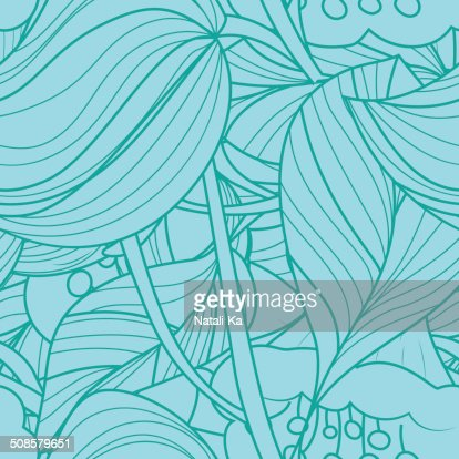 seamless texture with abstract flowers : Vector Art