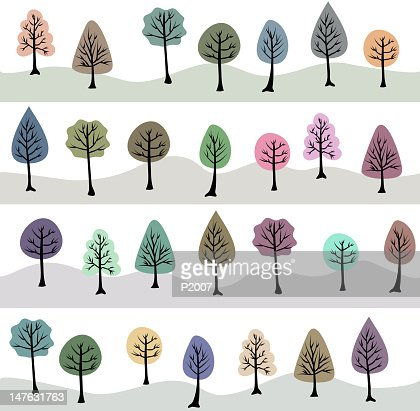 Seamless Tree Background
