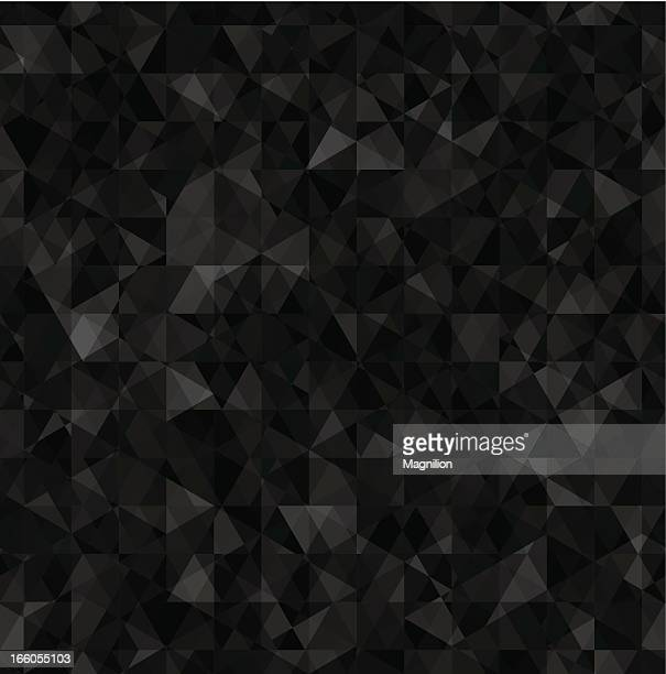 Seamless triangles pattern in various black tones
