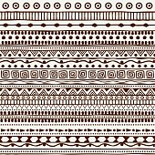 Seamless tribal pattern in the style of a boho. Background African motifs