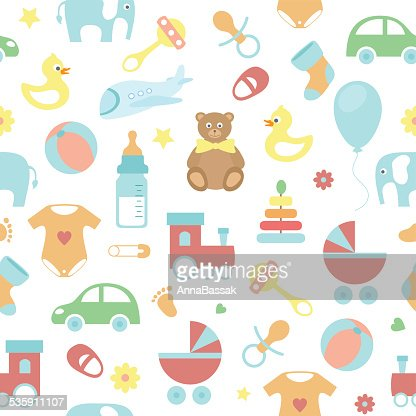 seamless vector baby pattern : Vector Art
