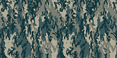 Seamless vector camouflage pattern. Military/ uniform/ army background. For fabric, textile, design, advertising banner.