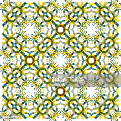 Seamless vector geometric abstract pattern. Creative round shapes made of : Vectorkunst